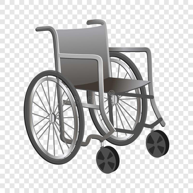 Ícone da cadeira de rodas, estilo dos desenhos animados ilustração royalty free