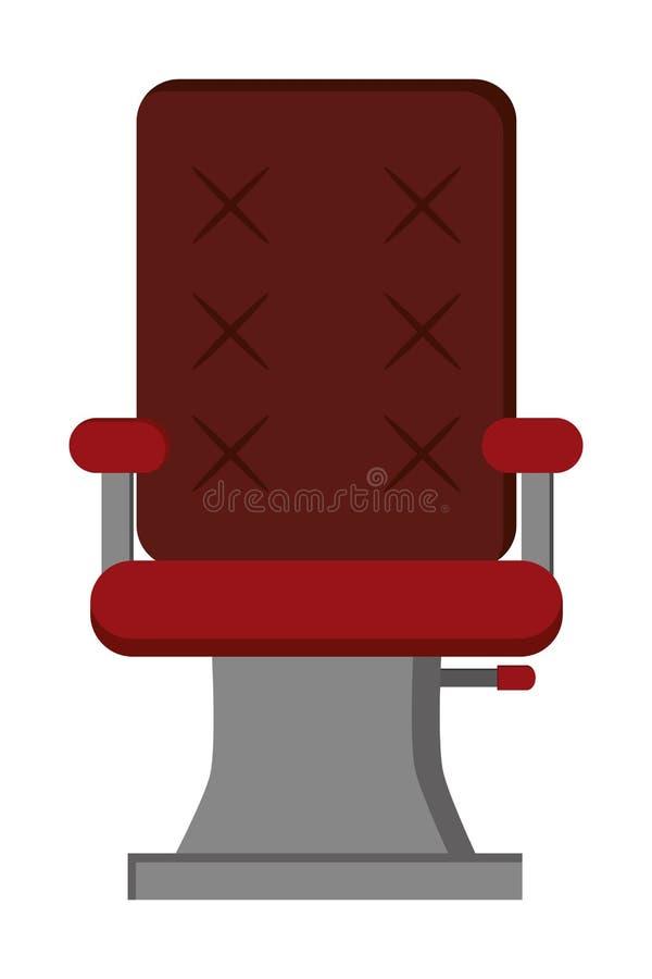 ícone da cadeira do cabeleireiro ilustração royalty free