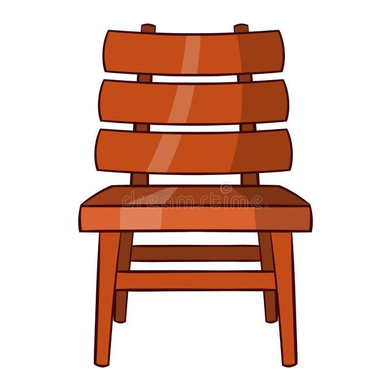 Ícone da cadeira, estilo dos desenhos animados ilustração do vetor