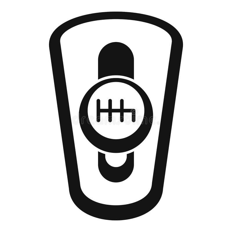 Ícone da caixa de engrenagens do carro auto, estilo simples ilustração royalty free