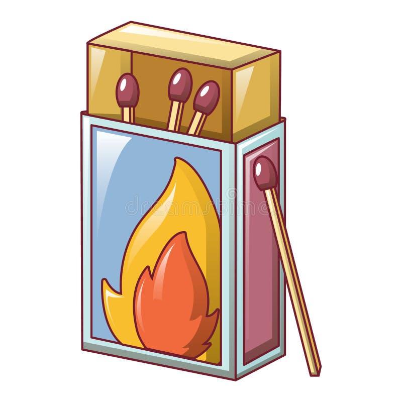 Ícone da caixa de fósforos, estilo dos desenhos animados ilustração royalty free