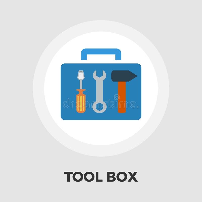 Ícone da caixa de ferramentas liso ilustração stock