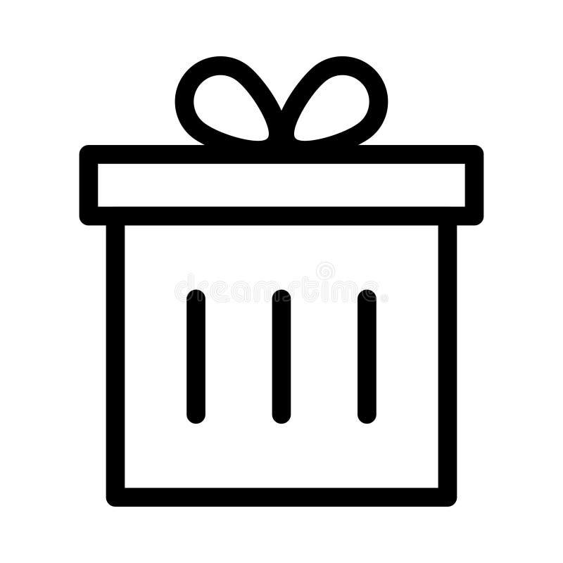 Ícone da caixa de presente ilustração stock