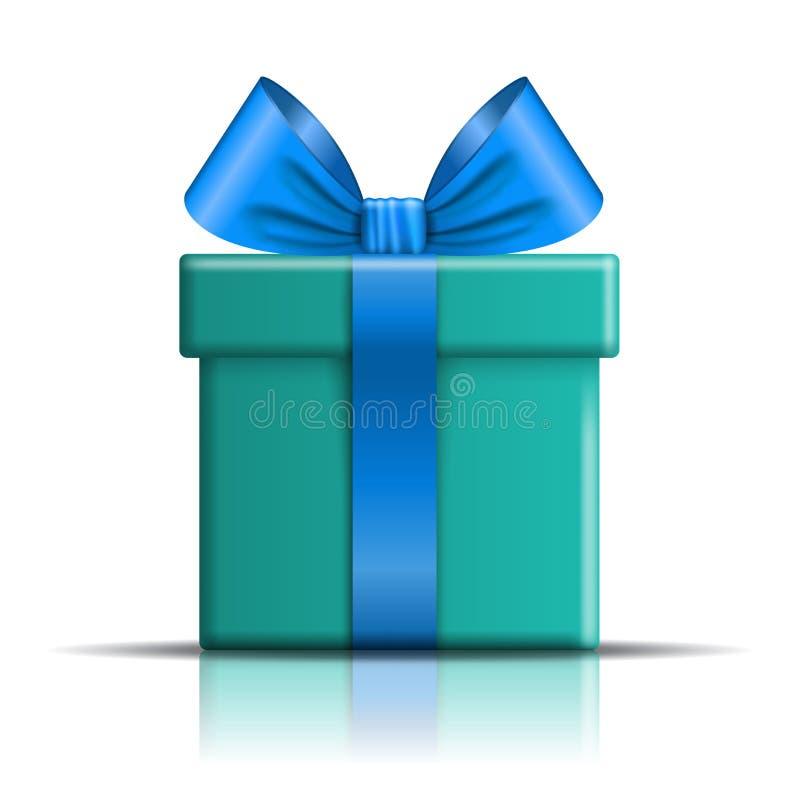 Ícone da caixa de presente E decoração do projeto 3D para ilustração stock