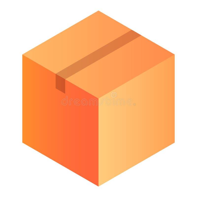 Ícone da caixa do armazém, estilo isométrico ilustração royalty free