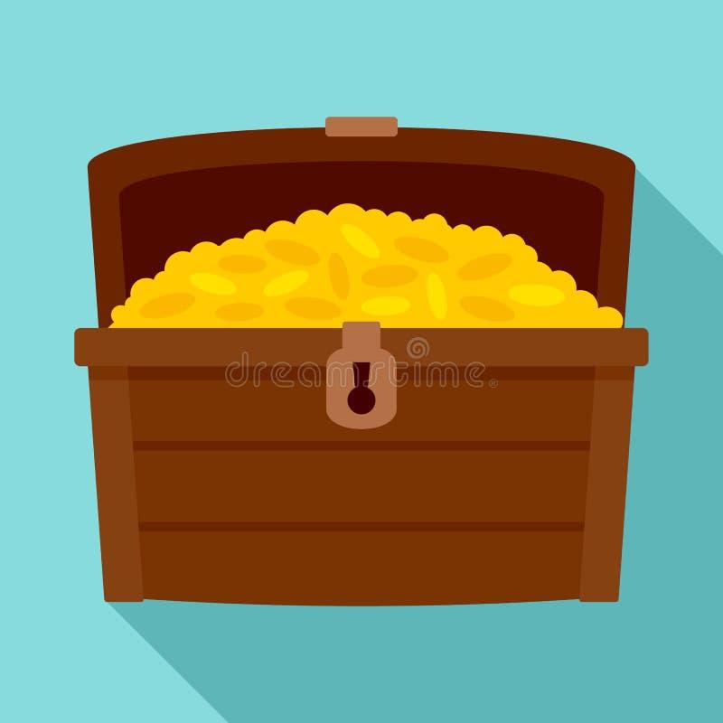 Ícone da caixa do dote, estilo liso ilustração royalty free