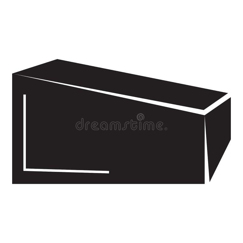 Ícone da caixa do parque do patim, estilo simples ilustração stock