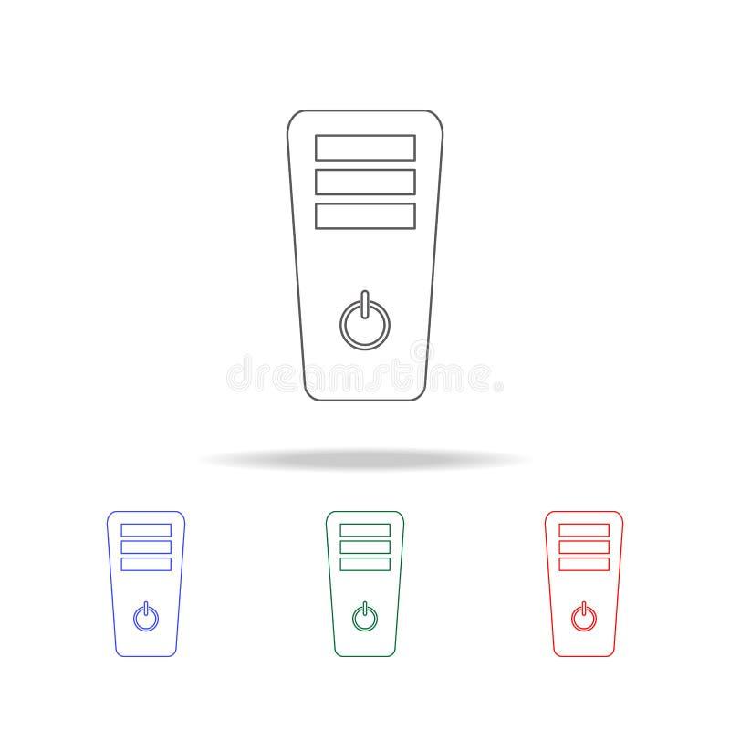 Ícone da caixa do PC Elementos da vida do jogo em multi ícones coloridos Ícone superior do projeto gráfico da qualidade Ícone sim ilustração royalty free