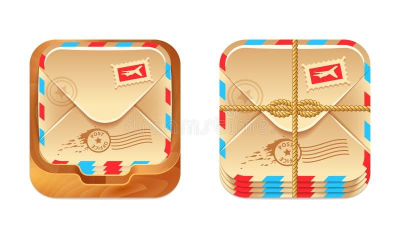 Ícone da caixa postal do vetor ilustração royalty free