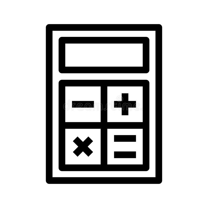Ícone da calculadora ilustração do vetor
