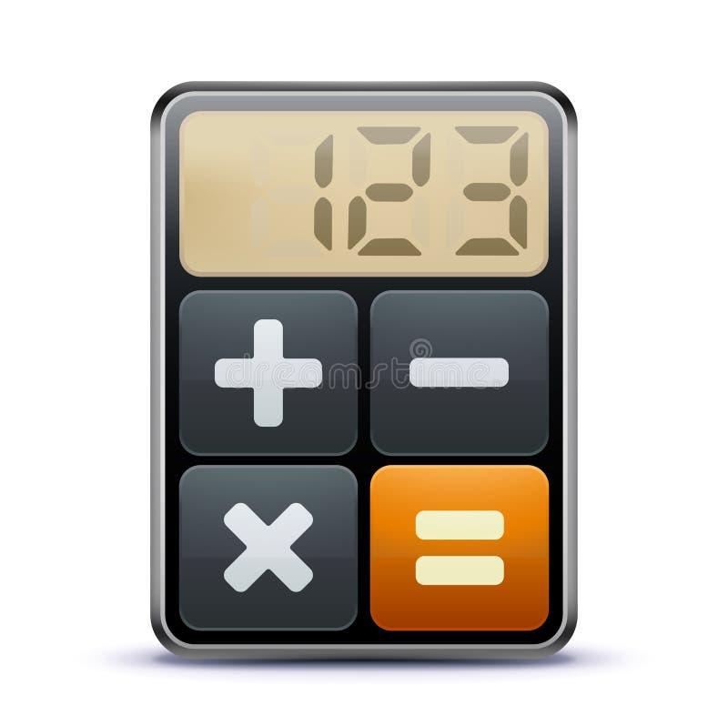 Ícone da calculadora ilustração royalty free
