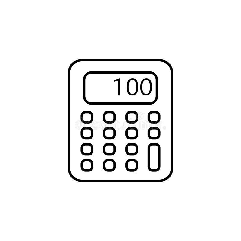 Ícone da calculadora Elemento do ícone popular da finança Projeto gráfico da qualidade superior Sinais, ícone para Web site, Web  ilustração stock