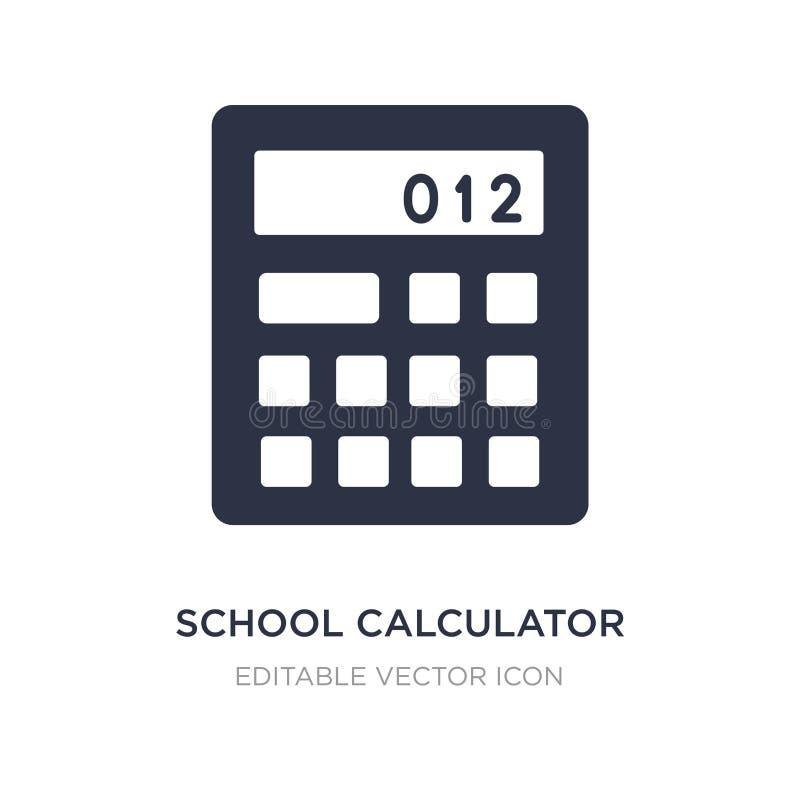 ícone da calculadora da escola no fundo branco Ilustração simples do elemento do conceito da educação ilustração stock