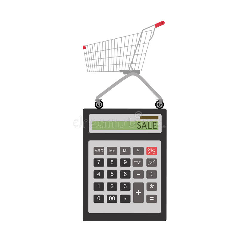 Ícone da calculadora no estilo liso ilustração do vetor