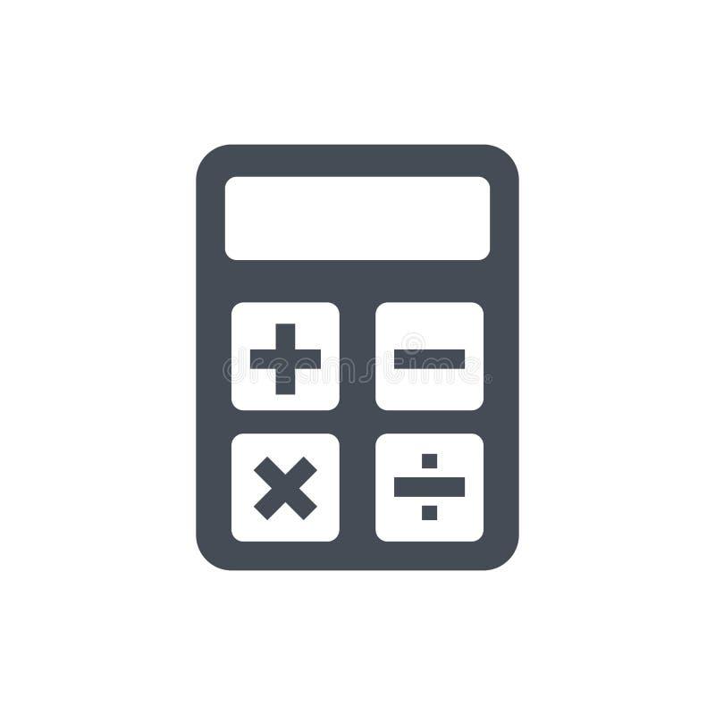 Ícone da calculadora Sinal da contabilidade Calcule o símbolo da finança - vetor ilustração stock