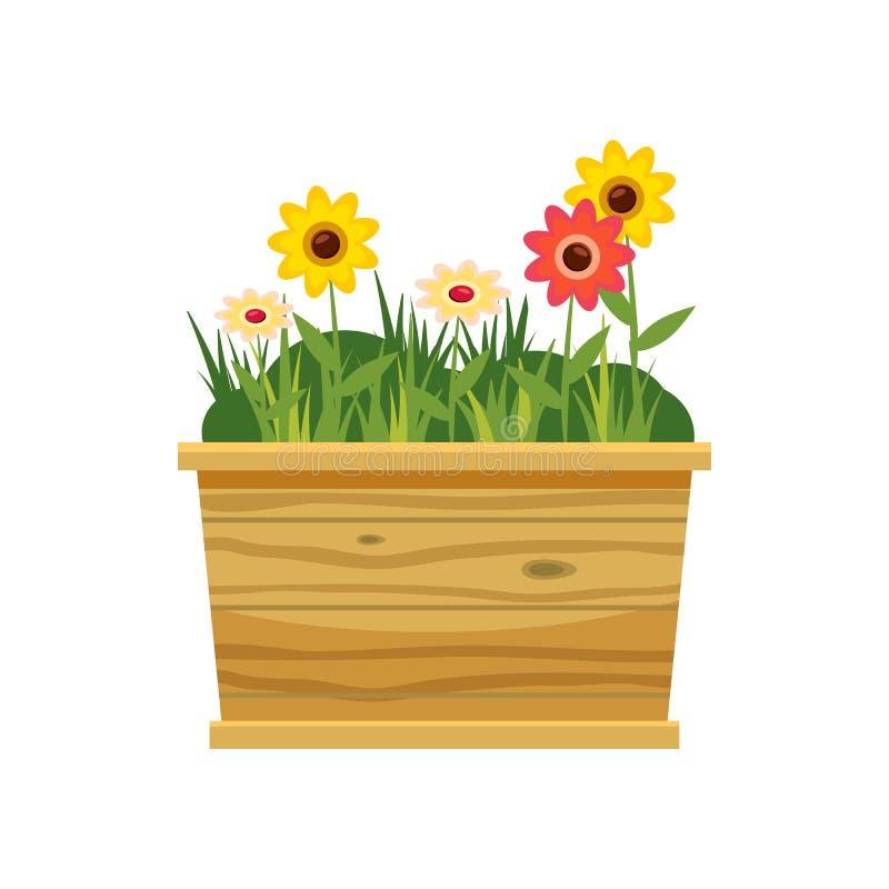 Ícone da cama de flor, estilo dos desenhos animados ilustração royalty free