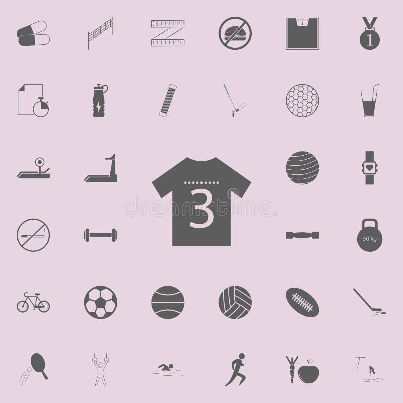 ícone da camisa de esportes Grupo detalhado de ícones do esporte Sinal superior do projeto gráfico da qualidade Um dos ícones da  ilustração do vetor