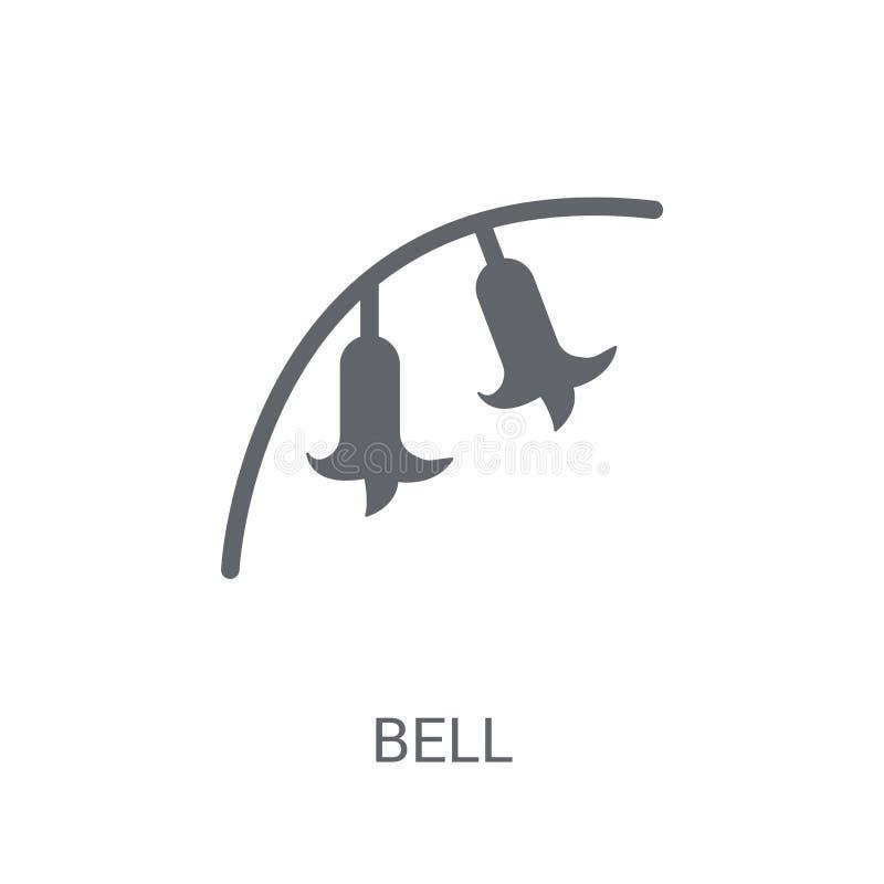 Ícone da campainha Conceito na moda do logotipo da campainha no fundo branco ilustração do vetor