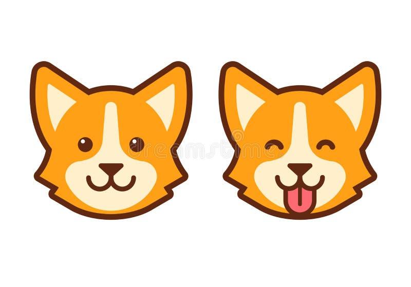 Ícone da cara do cão do Corgi