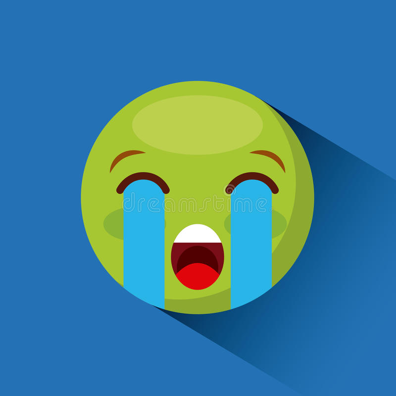 Ícone da cara do Emoticon ilustração royalty free