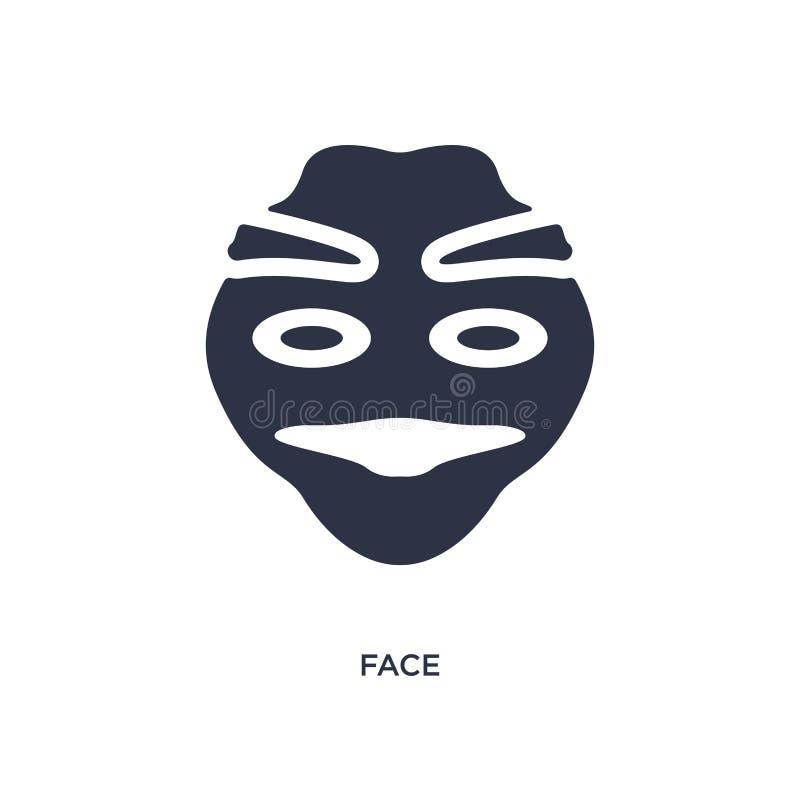 Ícone da cara no fundo branco Ilustração simples do elemento do conceito da história ilustração stock