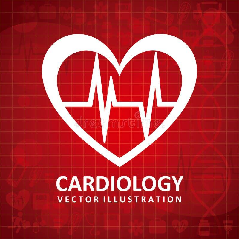 Ícone da cardiologia ilustração royalty free