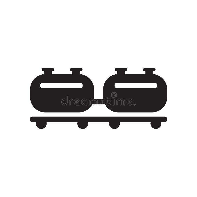 Ícone da carga do trem Conceito na moda do logotipo da carga do trem no backg branco ilustração royalty free