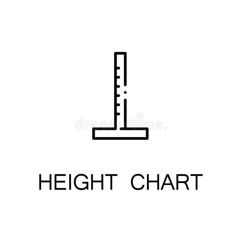 Ícone da carta da altura ilustração stock