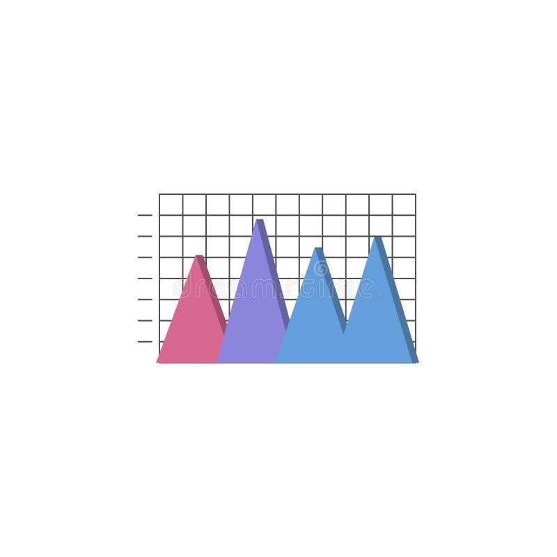 ícone da carta de barra 3D Elemento de cartas coloridas e de diagramas para apps móveis do conceito e da Web ícone para o projeto ilustração royalty free