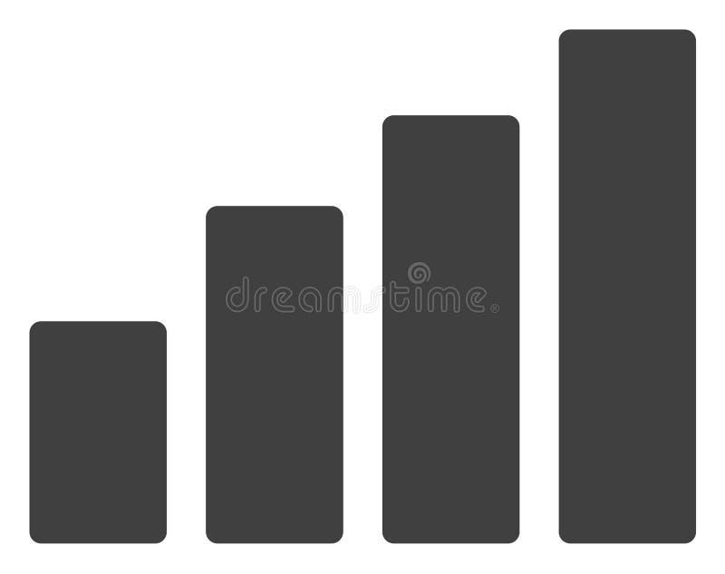 Ícone da carta de barra do vetor ilustração stock