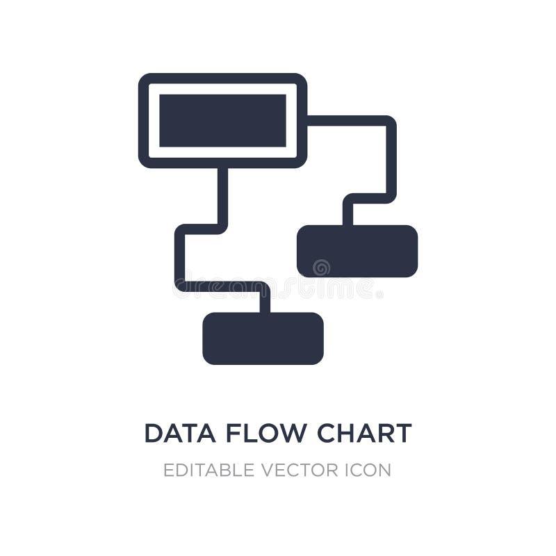 ícone da carta de fluxo de dados no fundo branco Ilustração simples do elemento do conceito dos multimédios ilustração stock