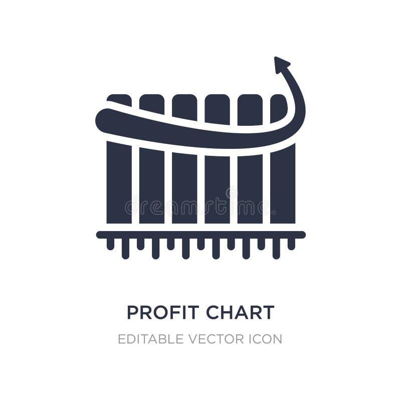 ícone da carta do lucro no fundo branco Ilustração simples do elemento do conceito do negócio ilustração royalty free
