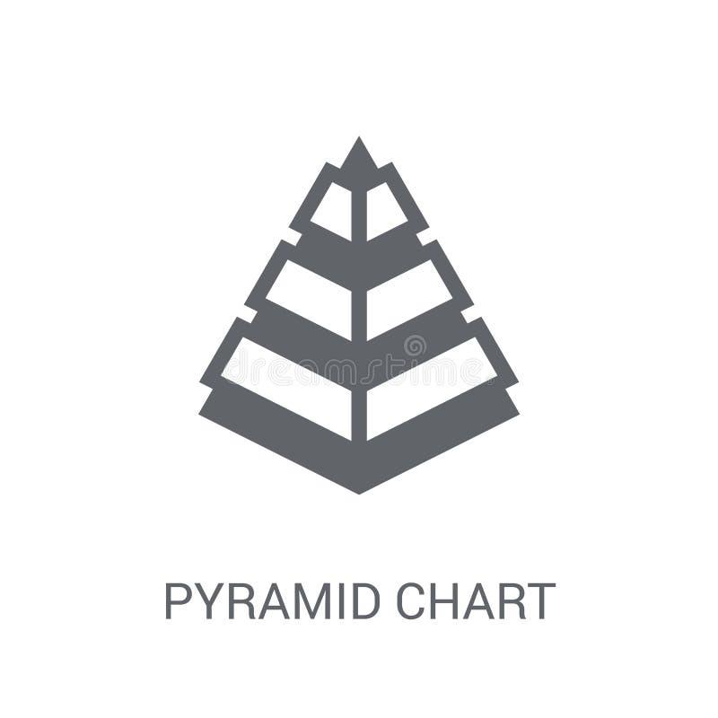 Ícone da carta da pirâmide  ilustração royalty free