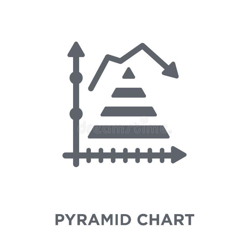 Ícone da carta da pirâmide da coleção ilustração do vetor