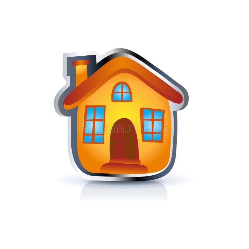 Ícone da casa ilustração do vetor