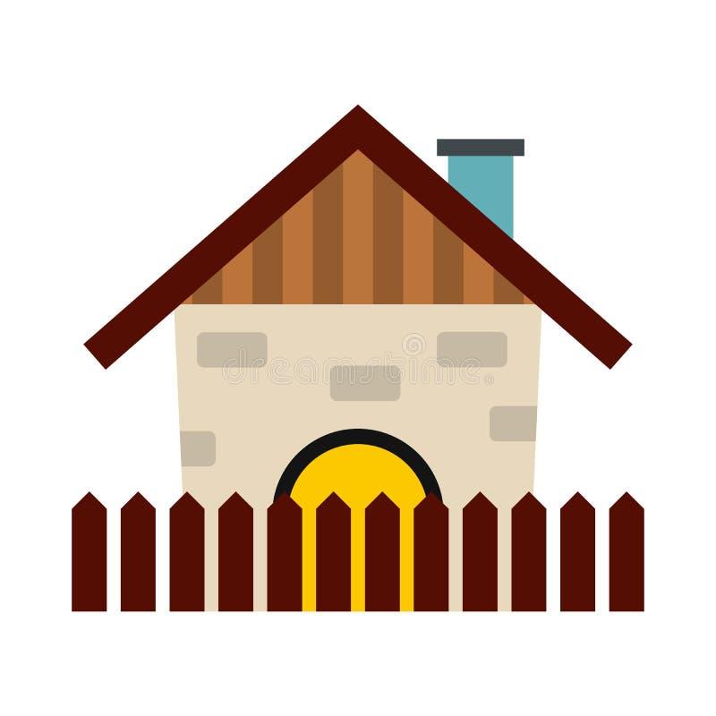 Ícone da casa da exploração agrícola ilustração do vetor