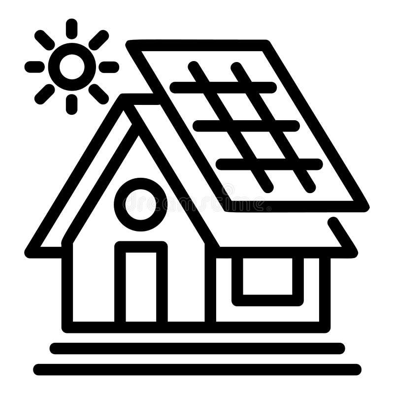 Ícone da casa de Eco, estilo do esboço ilustração do vetor