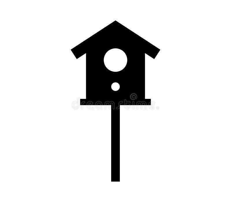 Ícone da casa do pássaro ilustração do vetor