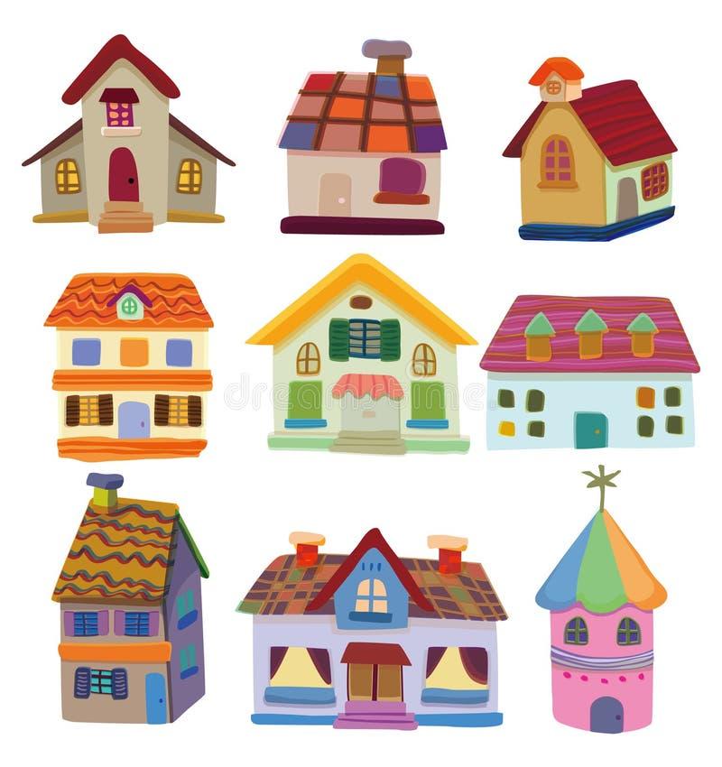 Ícone da casa dos desenhos animados ilustração do vetor