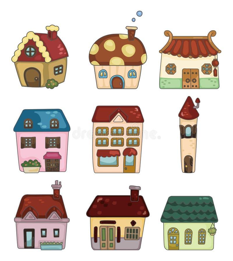 Ícone da casa dos desenhos animados ilustração royalty free