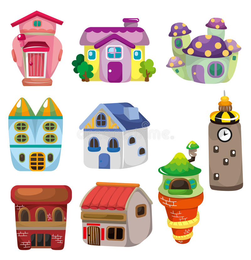 Ícone da casa dos desenhos animados ilustração stock
