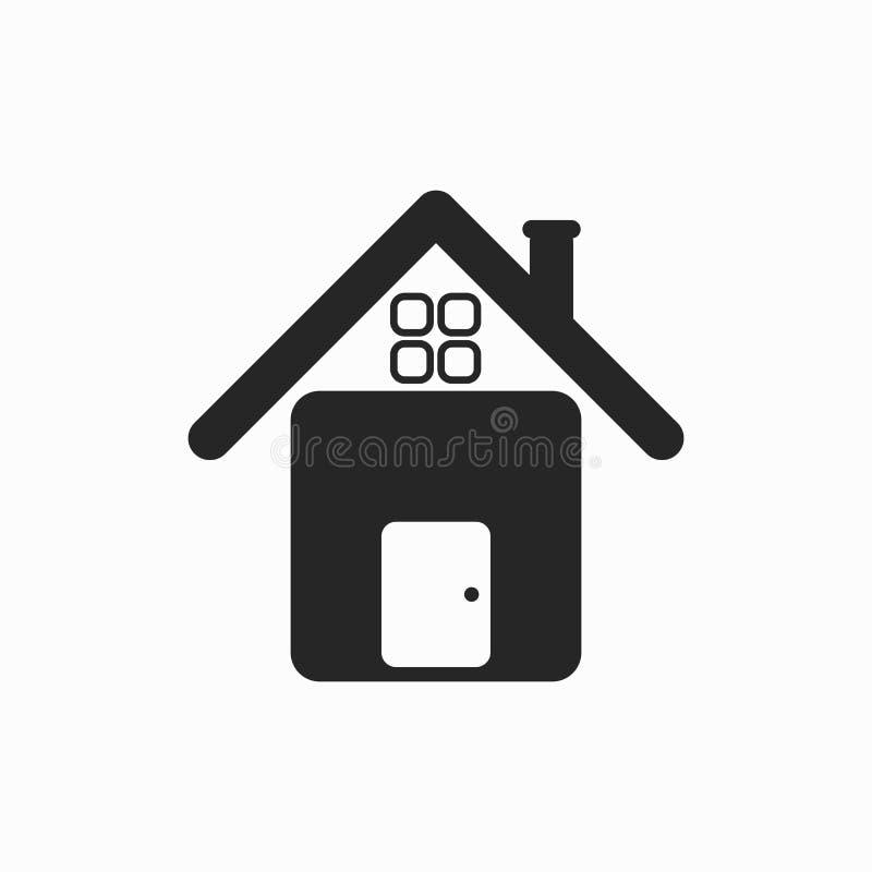 Ícone da casa, casa, família, pai ilustração stock