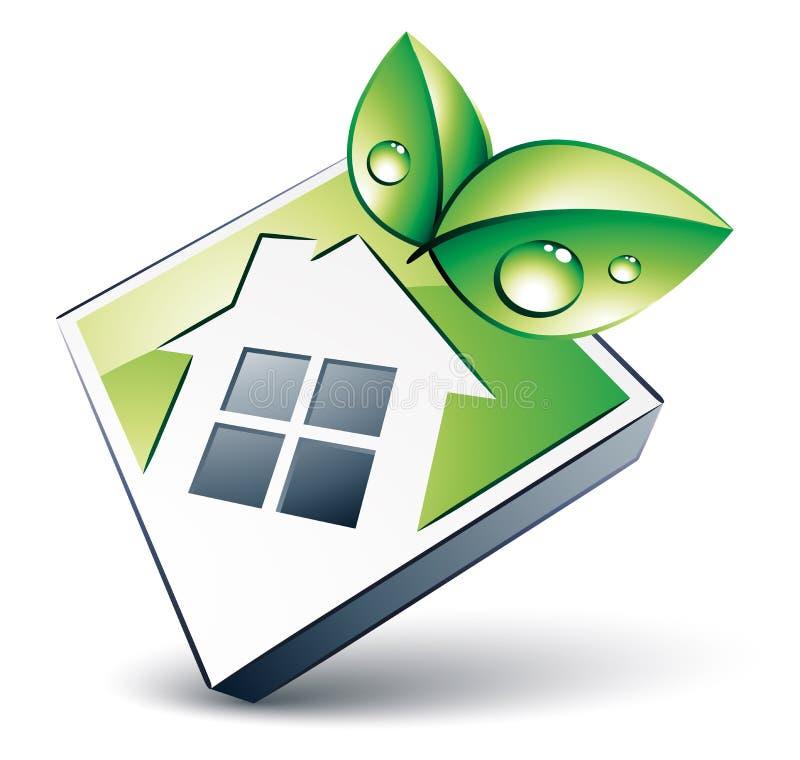 Ícone da casa verde ilustração stock