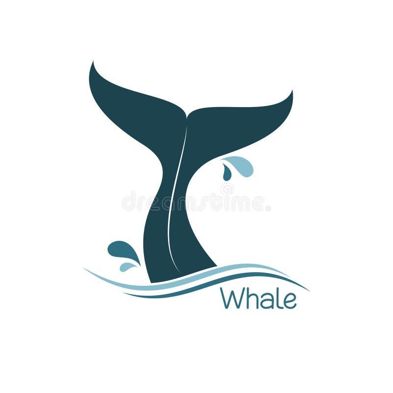 Ícone da cauda da baleia ilustração do vetor