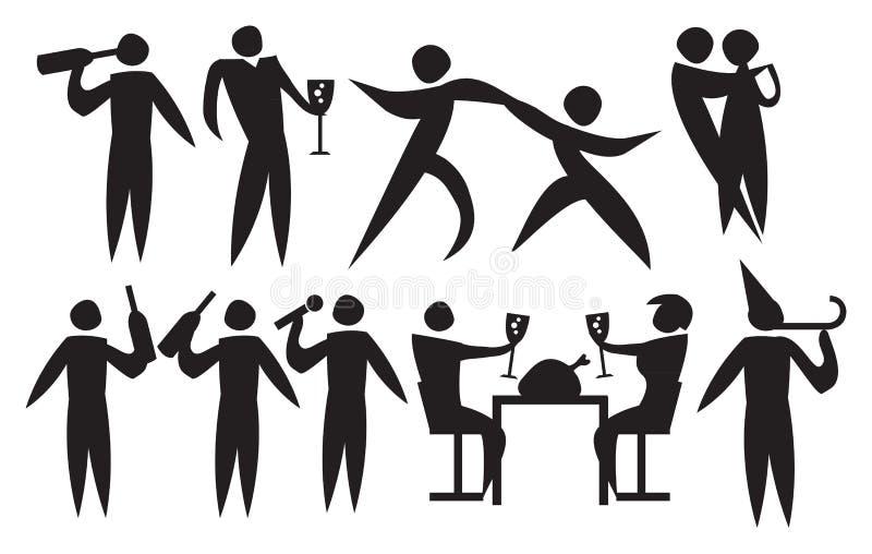 Ícone da celebração dos povos de um evento ilustração royalty free