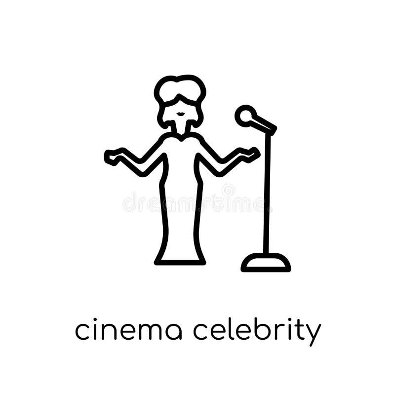 ícone da celebridade do cinema Cinema linear liso moderno na moda c do vetor ilustração do vetor