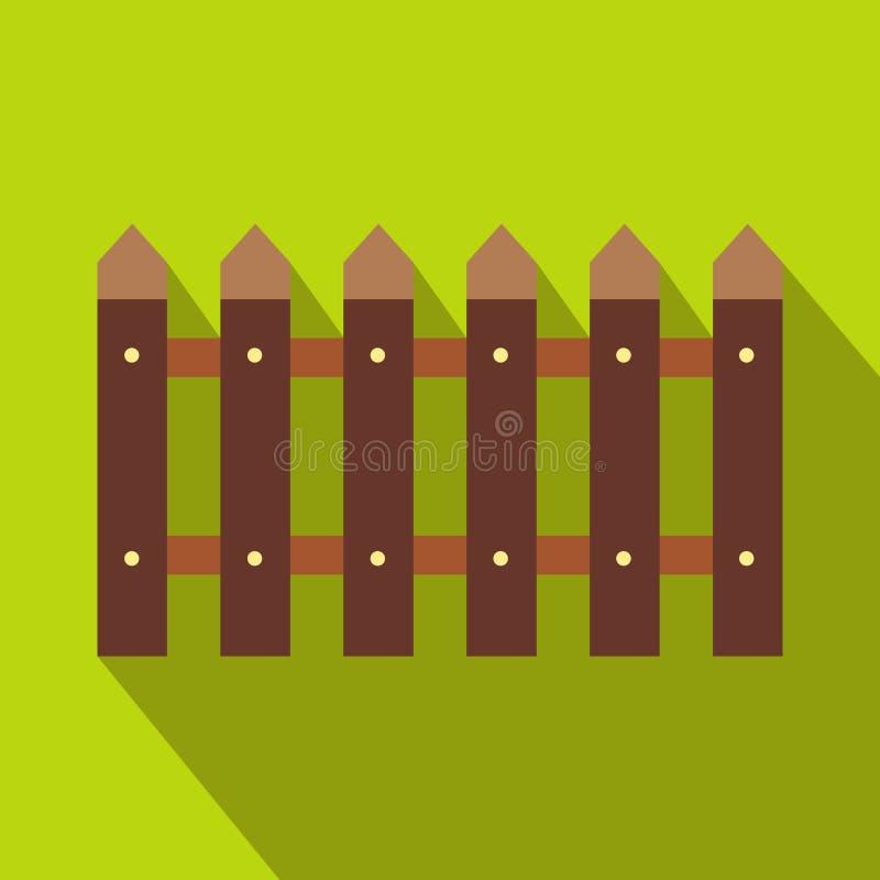Ícone da cerca com sombra ilustração royalty free