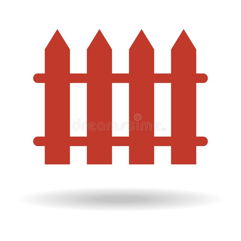 ícone da cerca no fundo branco ilustração royalty free
