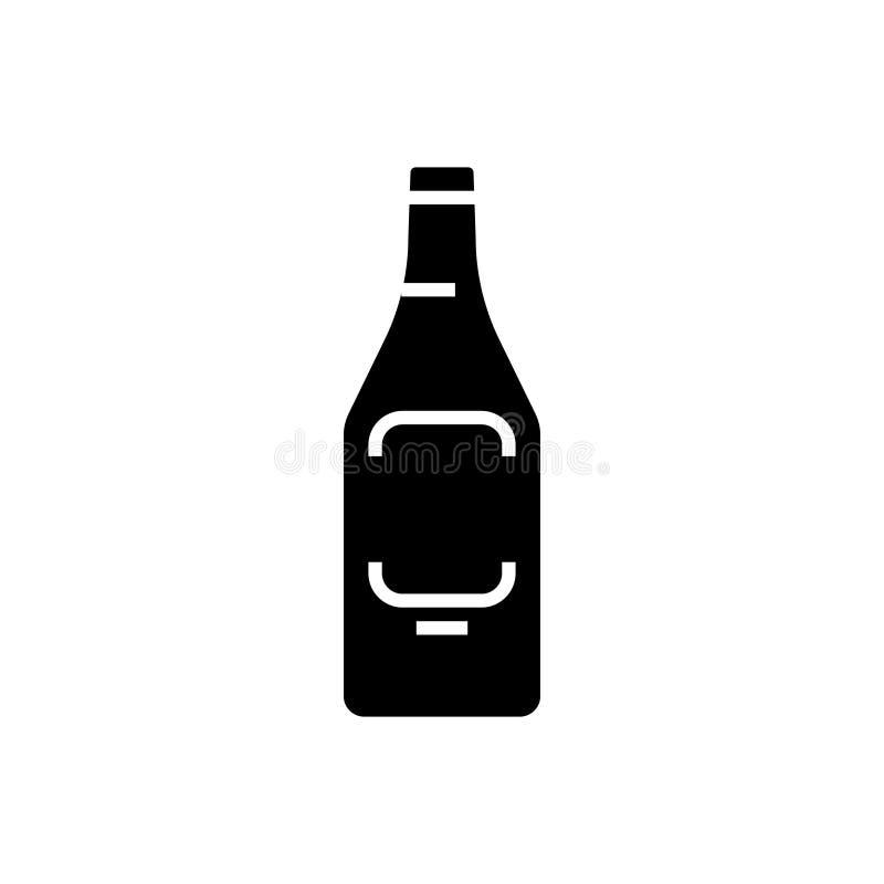 Ícone da cerveja, ilustração do vetor, sinal preto no fundo isolado ilustração do vetor