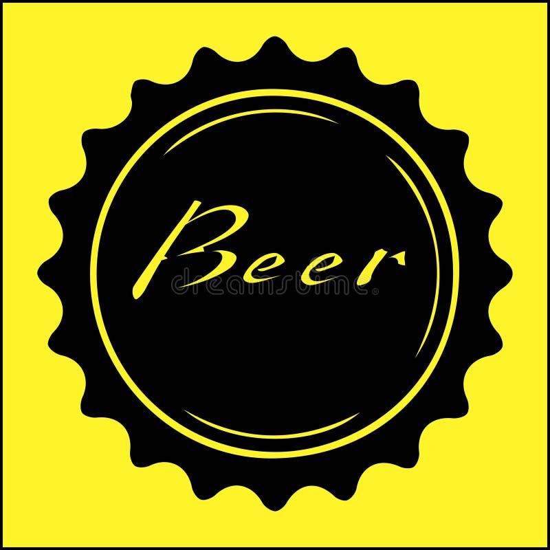 Ícone da cerveja na borda cerveja dia da ilustração internacional do vetor do 3 de agosto ilustração do vetor